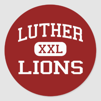 Luther - Lions - High School - Luther Oklahoma Round Sticker