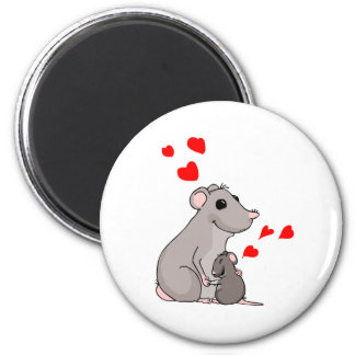 Luther loves his Mom 2 Inch Round Magnet