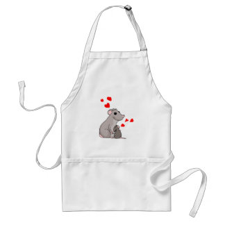 Luther loves his Mom Adult Apron