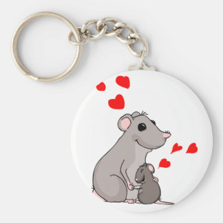 Luther loves his Mom Basic Round Button Keychain