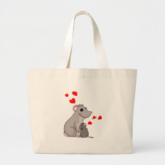 Luther loves his Mom Large Tote Bag