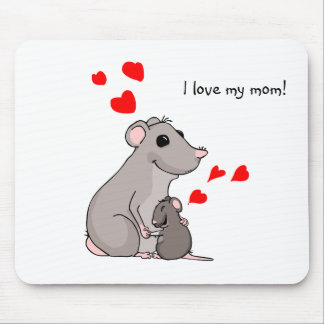 Luther loves his Mom Mouse Pad