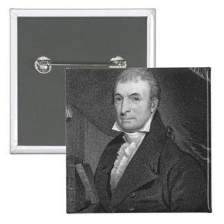 Luther Martin, engraved by William A. Wilmer (c.18 2 Inch Square Button