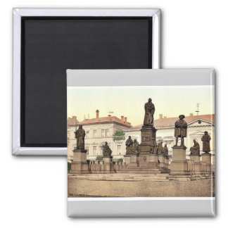 Luther Memorial, Worms, the Rhine, Germany magnifi Fridge Magnets