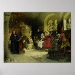 Luther predica usando su traducción de la biblia posters