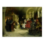 Luther predica usando su traducción de la biblia postales