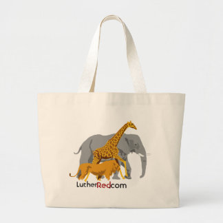"""Luther Red """"Grocery Hauler"""" Large Tote Bag"""