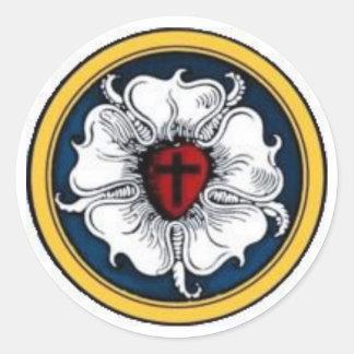 Luther Rose Round Sticker