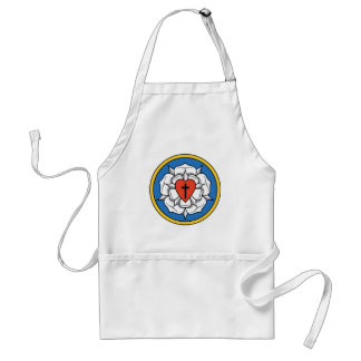 Luther's Rose Adult Apron
