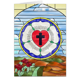 Luther Seal Stained Glass Window Card