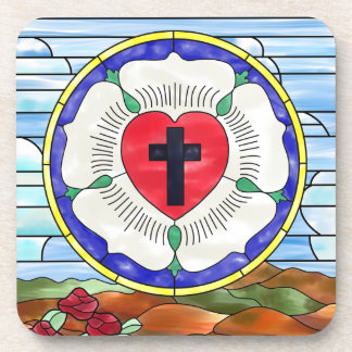 Luther Seal Stained Glass Window Coaster