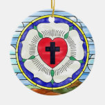 Luther Seal Stained Glass Window Christmas Ornaments