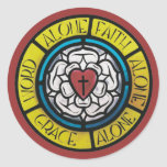 Luther Stained Glass Seal Stickers