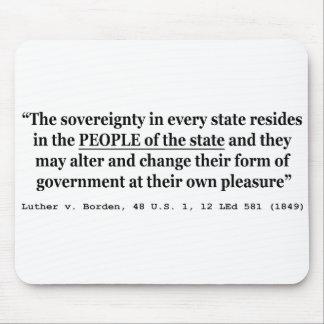 Luther v Borden 48 los E.E.U.U. 1 12 L Sovereign 1 Tapetes De Ratones