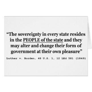Luther v Borden 48 los E.E.U.U. 1 12 L Sovereign 1 Tarjeta De Felicitación