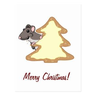 Luther y la galleta gigante del navidad postal