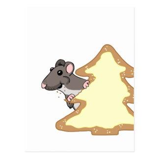 Luther y la galleta gigante del navidad - suplente tarjetas postales
