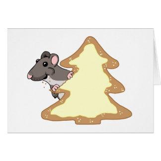 Luther y la galleta gigante del navidad tarjeta de felicitación