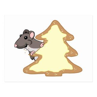 Luther y la galleta gigante del navidad tarjetas postales