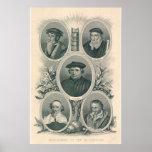 Luther y reformadores del siglo XVI Póster