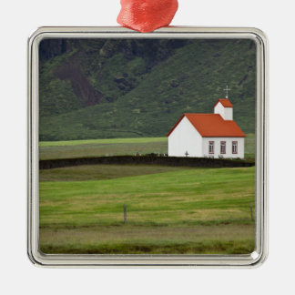 Lutheran Church, Iceland Square Metal Christmas Ornament