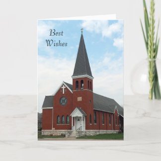 Lutheran Church Wedding Card