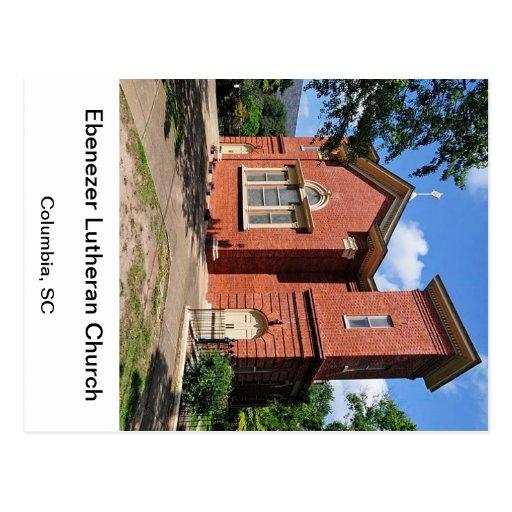 Lutheran Columbia Carolina del Sur de Ebenezer Tarjeta Postal