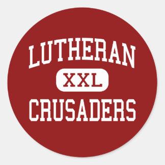 Lutheran - Crusaders - High - Mayer Minnesota Classic Round Sticker