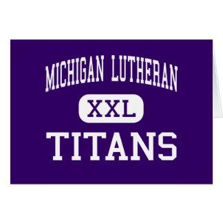 Lutheran de Michigan - titanes - alto - San José Tarjeton