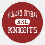 Lutheran de Milwaukee - caballeros - alto - Milwau Etiqueta