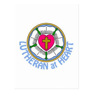 Lutheran en el corazón tarjetas postales