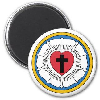Lutheran Magnet1 2 Inch Round Magnet