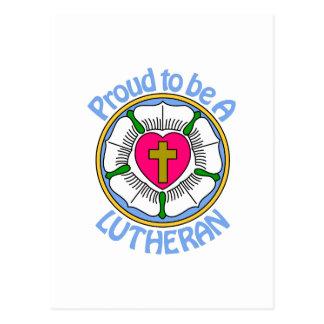 Lutheran orgulloso postal
