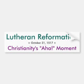 Lutheran Reformation - Aha! Bumper Sticker