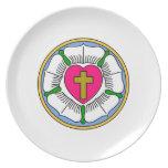 Lutheran Rose Dinner Plate