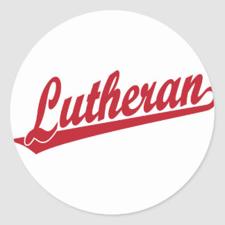 Lutheran Scipt Logo Classic Round Sticker