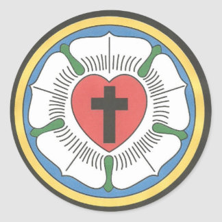 Lutheran Seal Classic Round Sticker