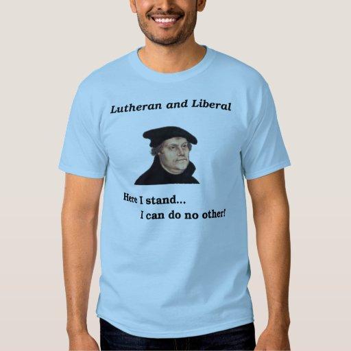 Lutheran y camiseta liberal playera