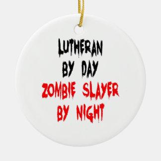 Lutheran Zombie Slayer Ceramic Ornament