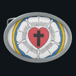"Luther&#39;s Rose Belt Buckle<br><div class=""desc"">Because being Lutheran is also a gut thing.</div>"