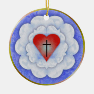 Luther's Rose Ceramic Ornament