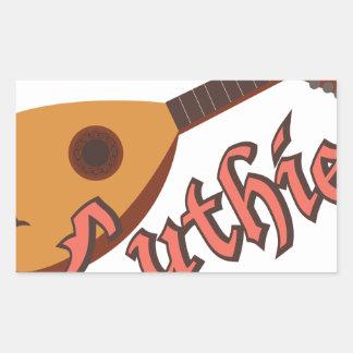 Luthier Rectangular Sticker
