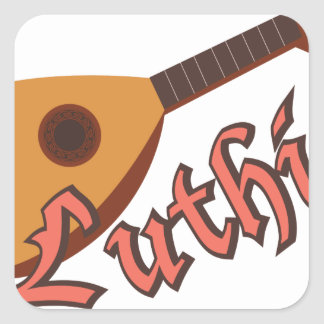 Luthier Square Sticker