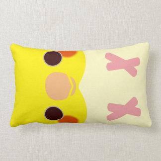 Lutino Cockatiel Lumbar Pillow