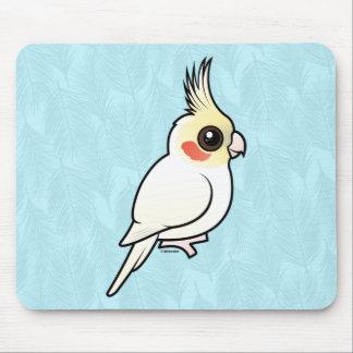 Lutino Cockatiel Mouse Pad