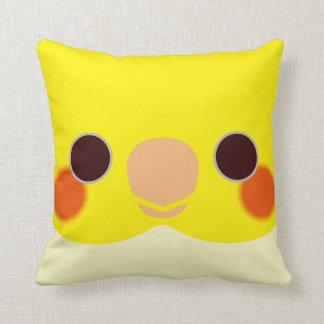 Lutino Cockatiel Throw Pillow