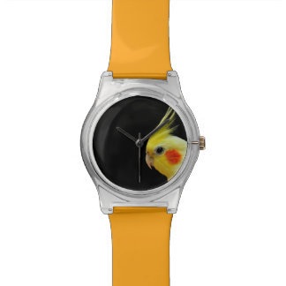 Lutino Cockatiel Wrist Watches