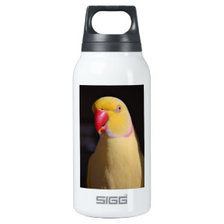 Lutino Indian Ringneck Parakeet Beak Thermos Water Bottle