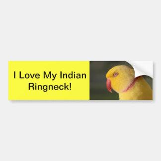 Lutino Indian Ringneck Parakeet Eye Bumper Sticker