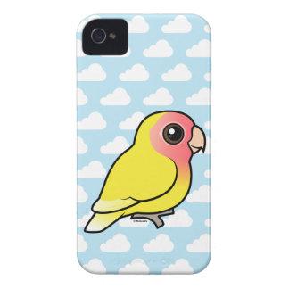 Lutino Melocotón-hizo frente al Lovebird Case-Mate iPhone 4 Carcasas